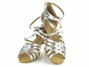 Tanzschuhe in Silber