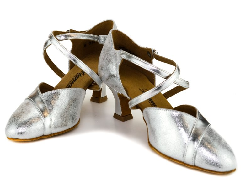 5 cm Latino Absatz Made in Germany Diamant Damen Tanzschuhe 161-068-505 Silber